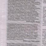 More letters Stradbroke Island 22.8.09