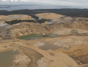 Dredge mining for mineral sands on Stradbroke Island is very destructive.