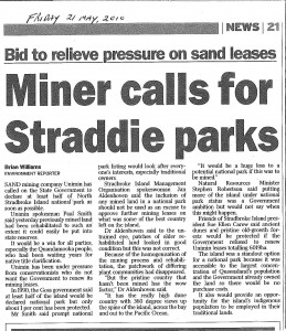 Sand mining company advocated for half of Stradbroke to be National Park
