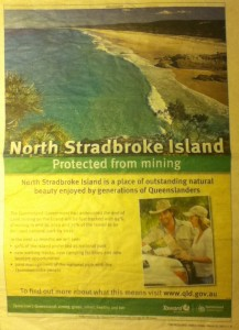 Taxpayer funded advertisement falsely claiming Stradbroke is protected from mining