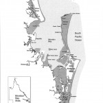 Stradbroke Island map showing RAMSAR sites - internationally recognised wetlands.